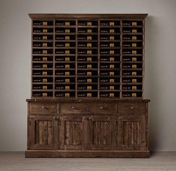 Salvaged Wood Vintners Hutch