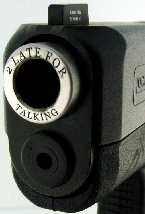 """That's it - getting this engraved on one of my pistols. Already got the: """"Smile, wait for flash""""."""