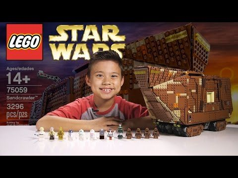 LEGO SANDCRAWLER - LEGO Star Wars UCS Set 75059 Time-lapse, Stop Motion, Unboxing & Review - YouTube