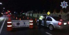Instala Policía Vial estatal operativo alcoholímetro en la carretera federal 190