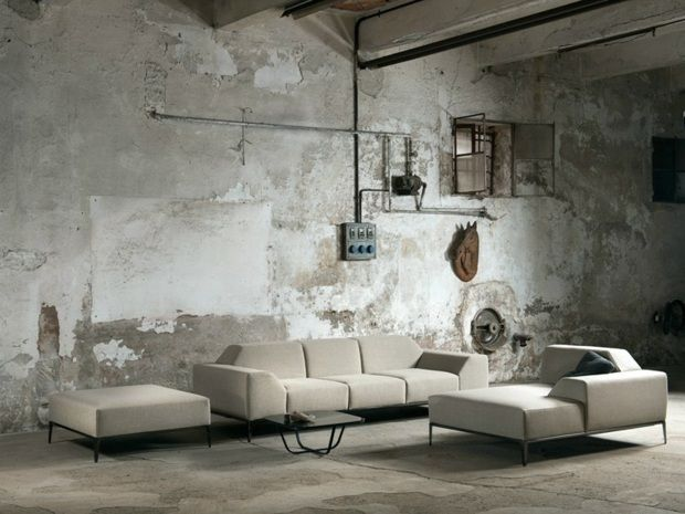 canapé contemporain en tissu par Minimomassimo