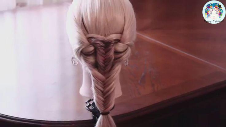 içiçe geçmiş kılçık saç örgü modeli