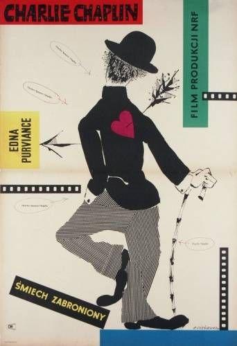 Roman Cieslewicz Charlie Chaplin Festival 1957