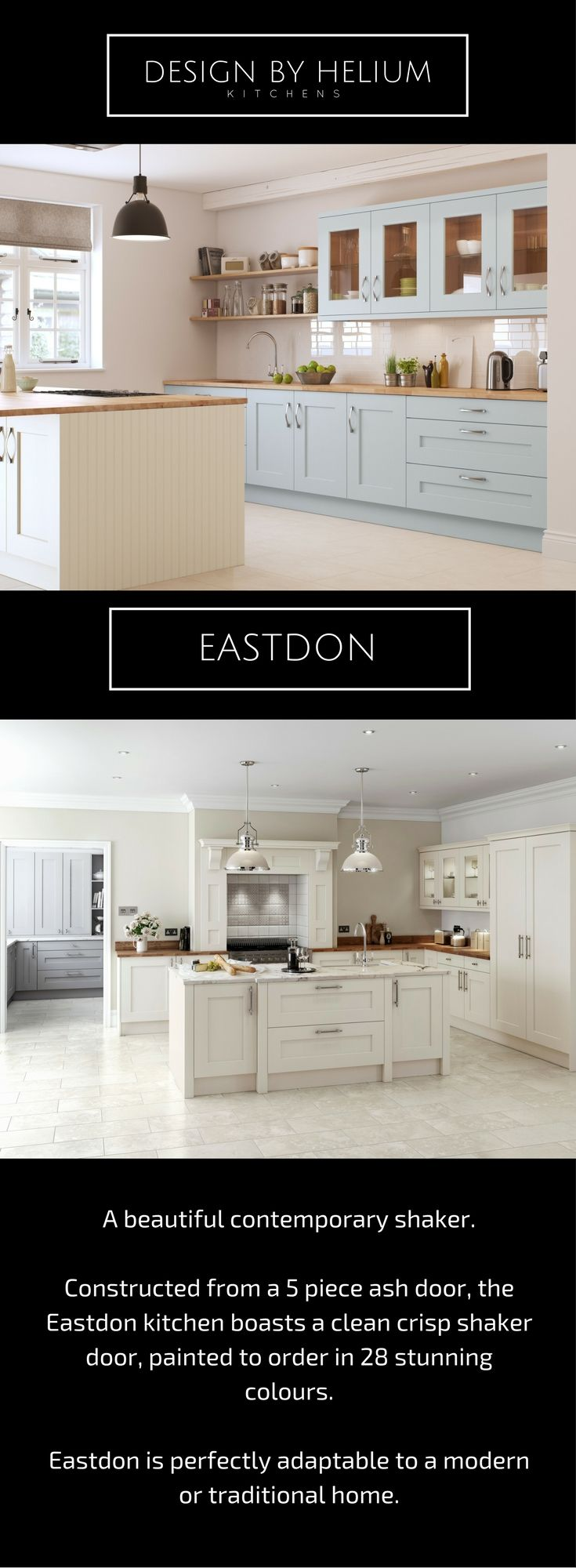 EASTDON is our beautiful painted shaker kitchen