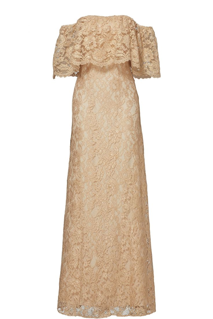 ERIN erin fetherston Gold Lace Catherine Gown