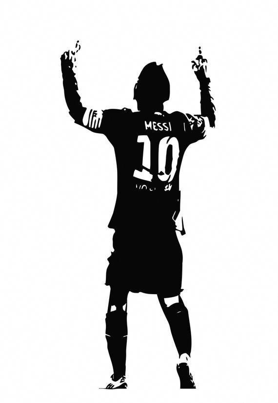 Lionel Messi Football Soccer Player Argentina Argentinian Children S Bedroom Nursery Wall Art Decal Sticker Picture Decal Poster Tatuagem De Futebol Desenho De Jogador De Futebol Tatuagens De Jogador De Futebol