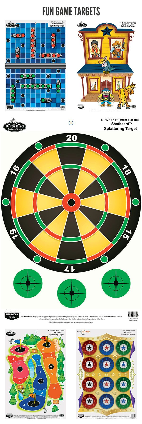 Get the kids target practicing with these fun, family-friendly targets!