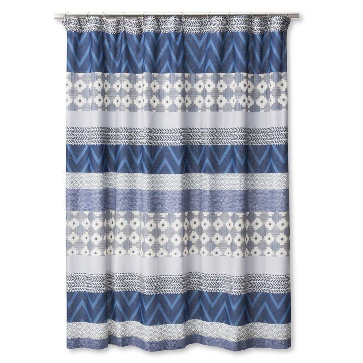 Mudhut� Dhurrie Tie Dye Shower Curtain