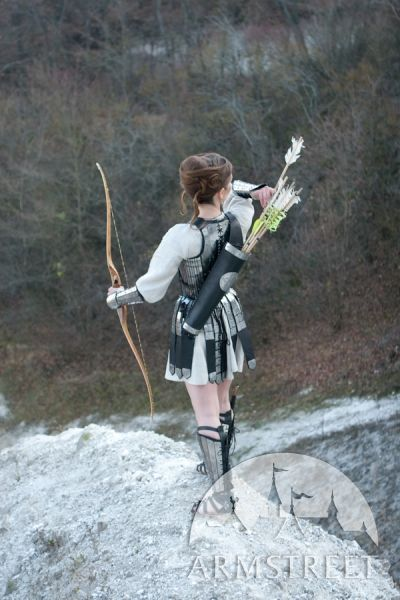 Medieval Archer Thigh Bowman Leather Quiver