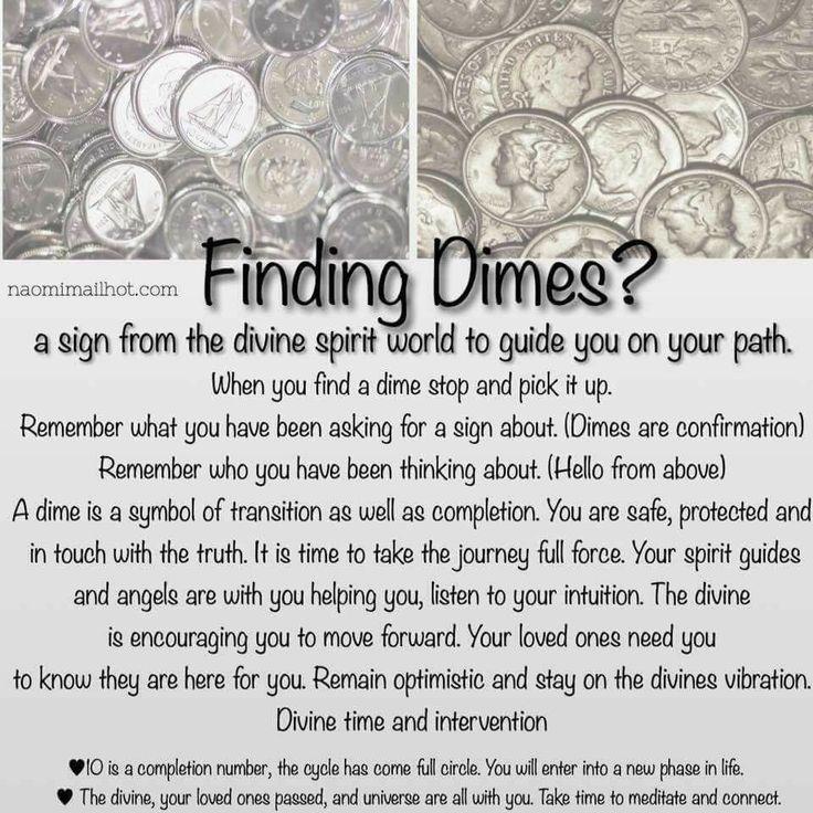 Finding dimes spiritual symbolism