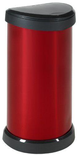 Curver 176459 Aspect Métal «Touch» Poubelle 40 L Métal Rouge: Price:27.93Poubelle Touch 40L – Design ovale fonctionnel – Support de sac…
