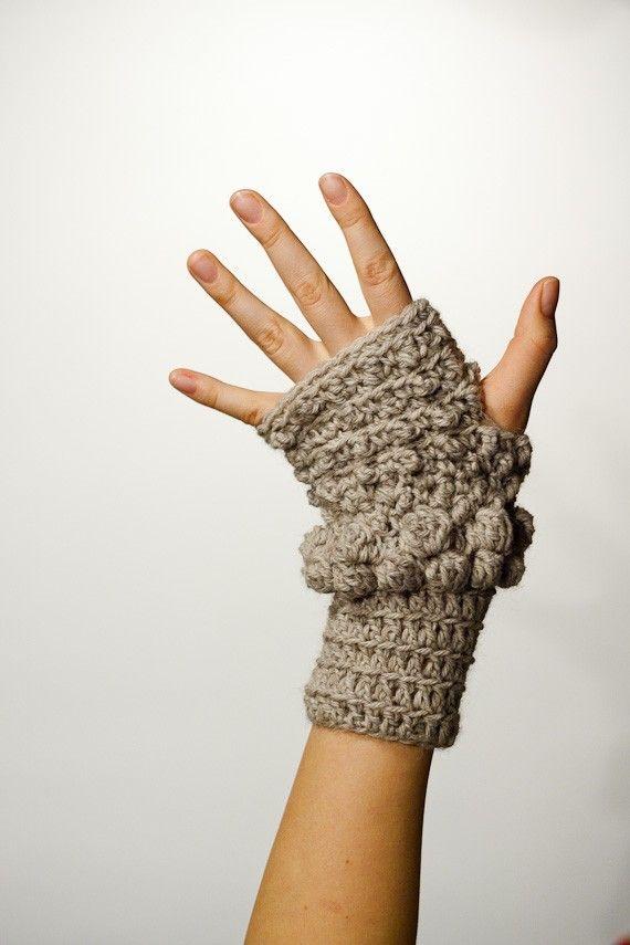Increíble Patrón De Crochet Mitón Embellecimiento - Coser Ideas Para ...