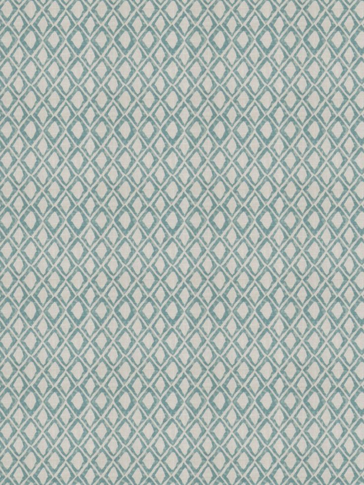 Ogden Diamond in color Aquamarine from the Nate Berkus Color Collection for Fabricut. #FabricutLovesNate