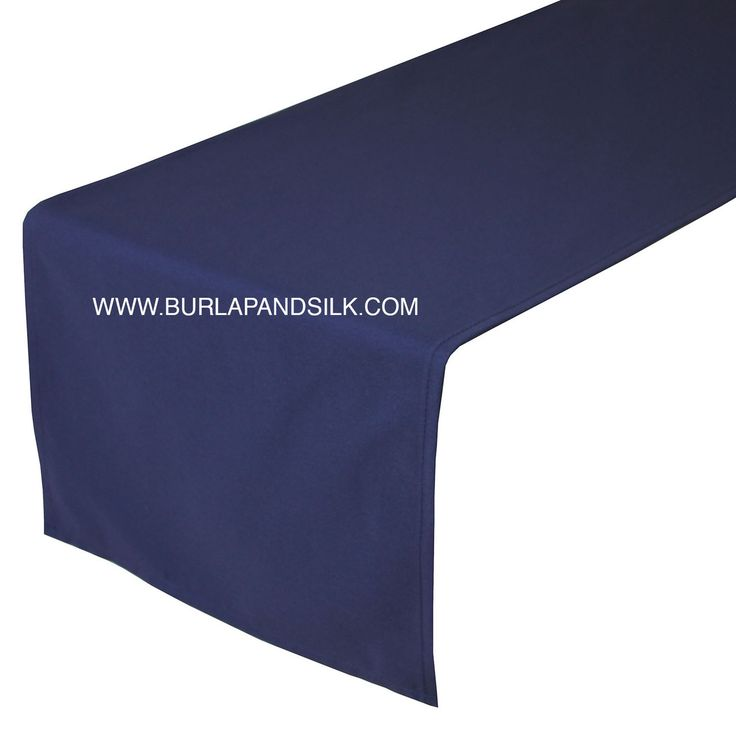 14 x 108 inch navy blue table runner - Discount Table Linens