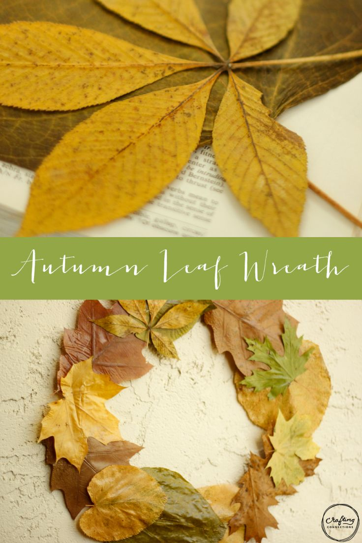 Fall crafts for adults to make - Make It Together Pressed Leaf Wreath Autumn Craftsthanksgiving