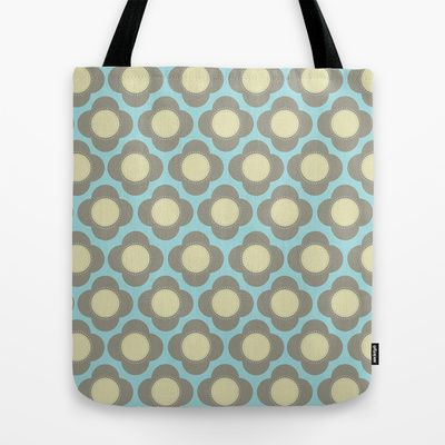 Orla Floral Grey Tote Bag by designed to a T - $22.00