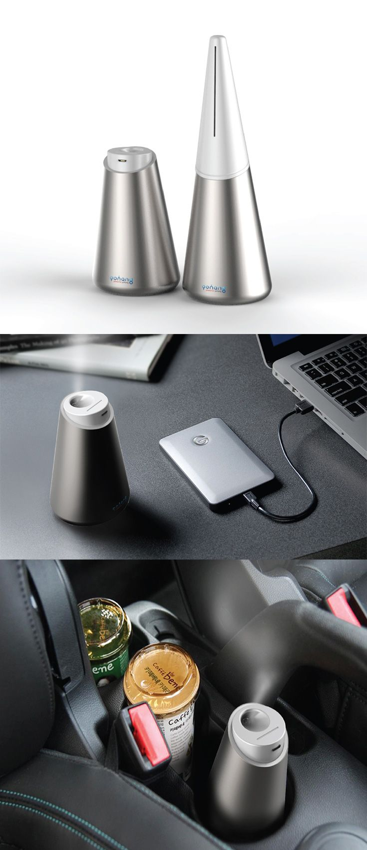 The 'Watercone' is a humidifier designed to look nothing like one, it is small enough to be a part of your desk and sturdy enough to even be carried around without worries of the water spilling... READ MORE at Yanko Design !