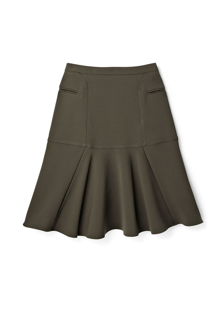 This slimming, A-line fit-and-flare skirt features a light-control fabric lining.