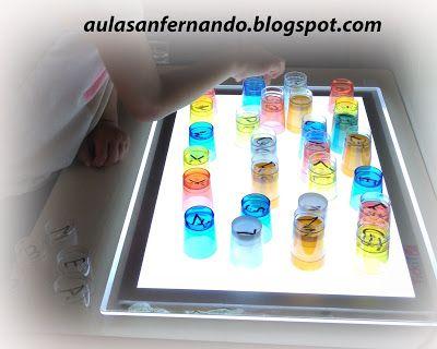 Trabajamos el abecedario con la Mesa de Luz