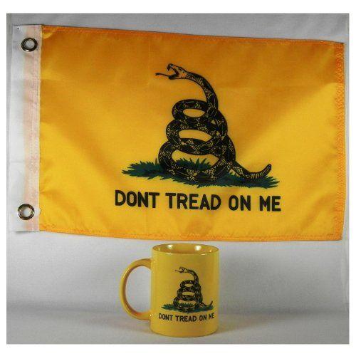 Gadsden Coffee Mug w/ 12x18 Gadsden Flag Ruffin Flag Company