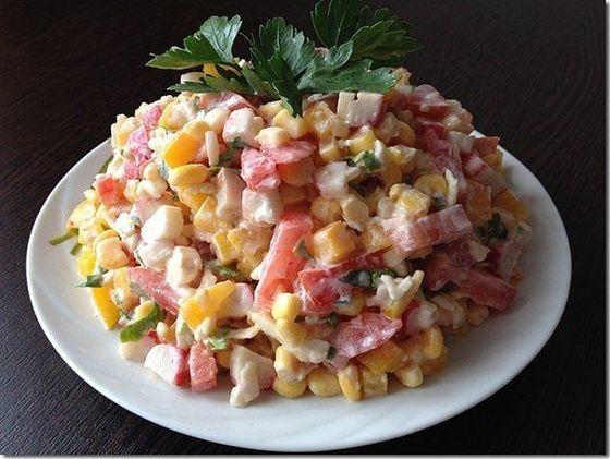 "Салат ""Лямур"" - Кулинарный рецепт - Повар в доме"