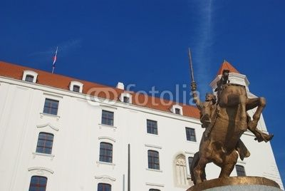 Bratislava castle - Equestrian statue of King Svatopluk I at the Honorary Courtyard since 2010