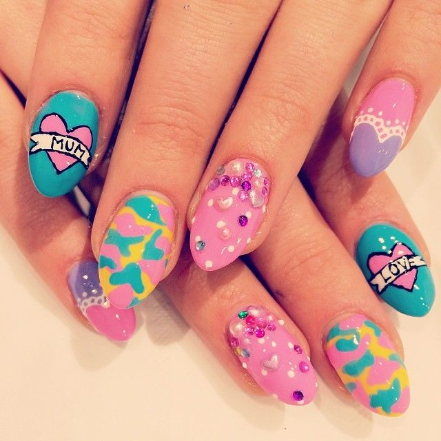 13 best pretty marker nails images on pinterest sharpies wah nails who doesnt love their mamma seriously prinsesfo Images