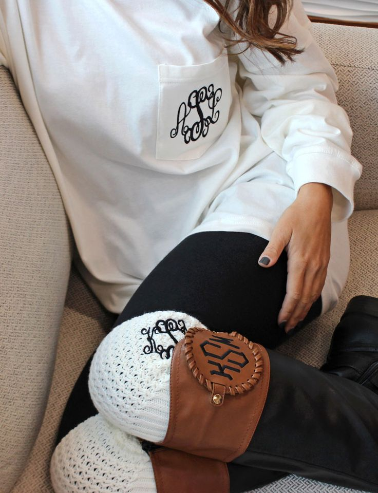 Monogrammed Boot Cuffs | Marleylilly  https://marleylilly.com/product/monogrammed-boot-cuff/