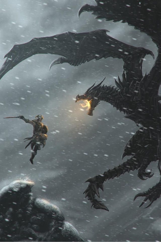 dragon en la nieve