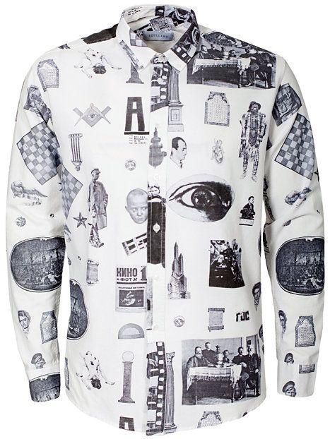 Vania Shirt - Soulland - Valkoinen/Musta - Kauluspaidat - Vaatteet - Mies - NlyMan.com