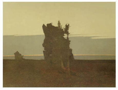 Fall Twilight by Russell Chatham.  Yellowstone Art Museum.  Billings, MT