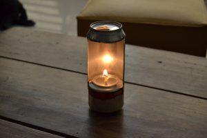 Como hacer una lámpara de aceite con latas