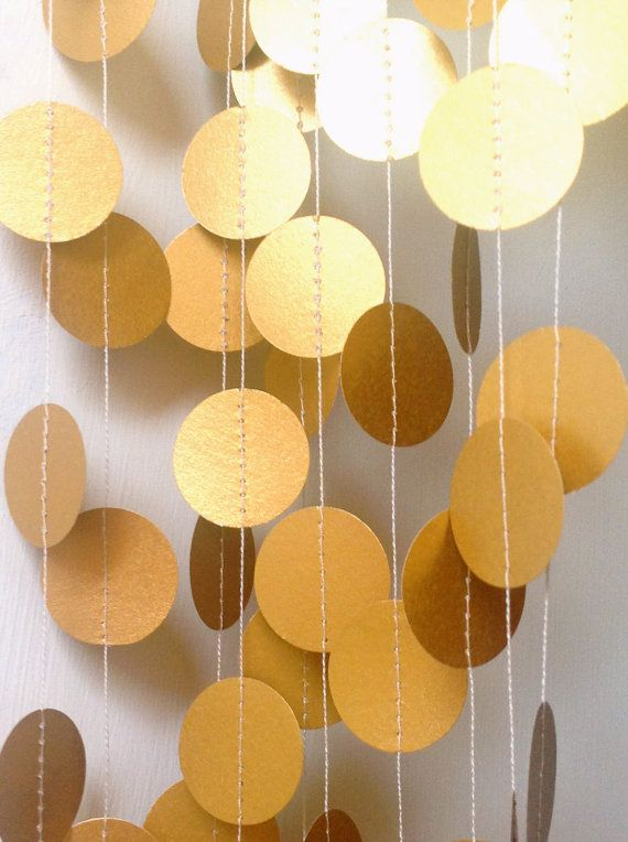 8 12 Feet Gold Wedding Garland Party by MaisyandAlice on Etsy, $14.00