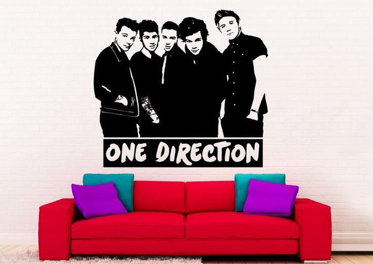 One Direction Wall Decorative sticker. This One D wall decal is the perfect  addition to