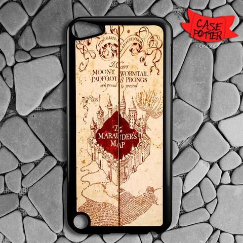 Harry Potter Inspired Marauders Map iPod 5 Black Case