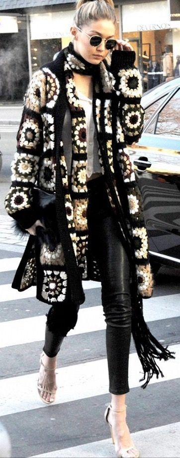 Como llevar un original abrigo con estilo!