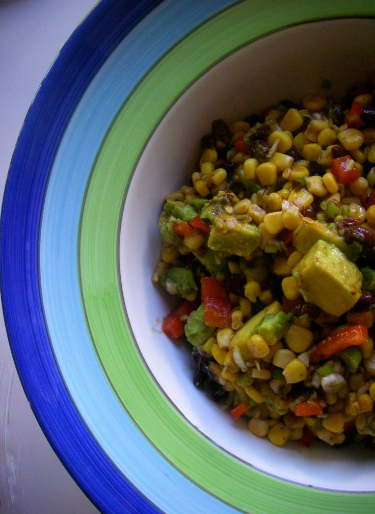 Corn and black bean salad - yummo! And quick and easy! #afreerangelife @Annabel Langbein