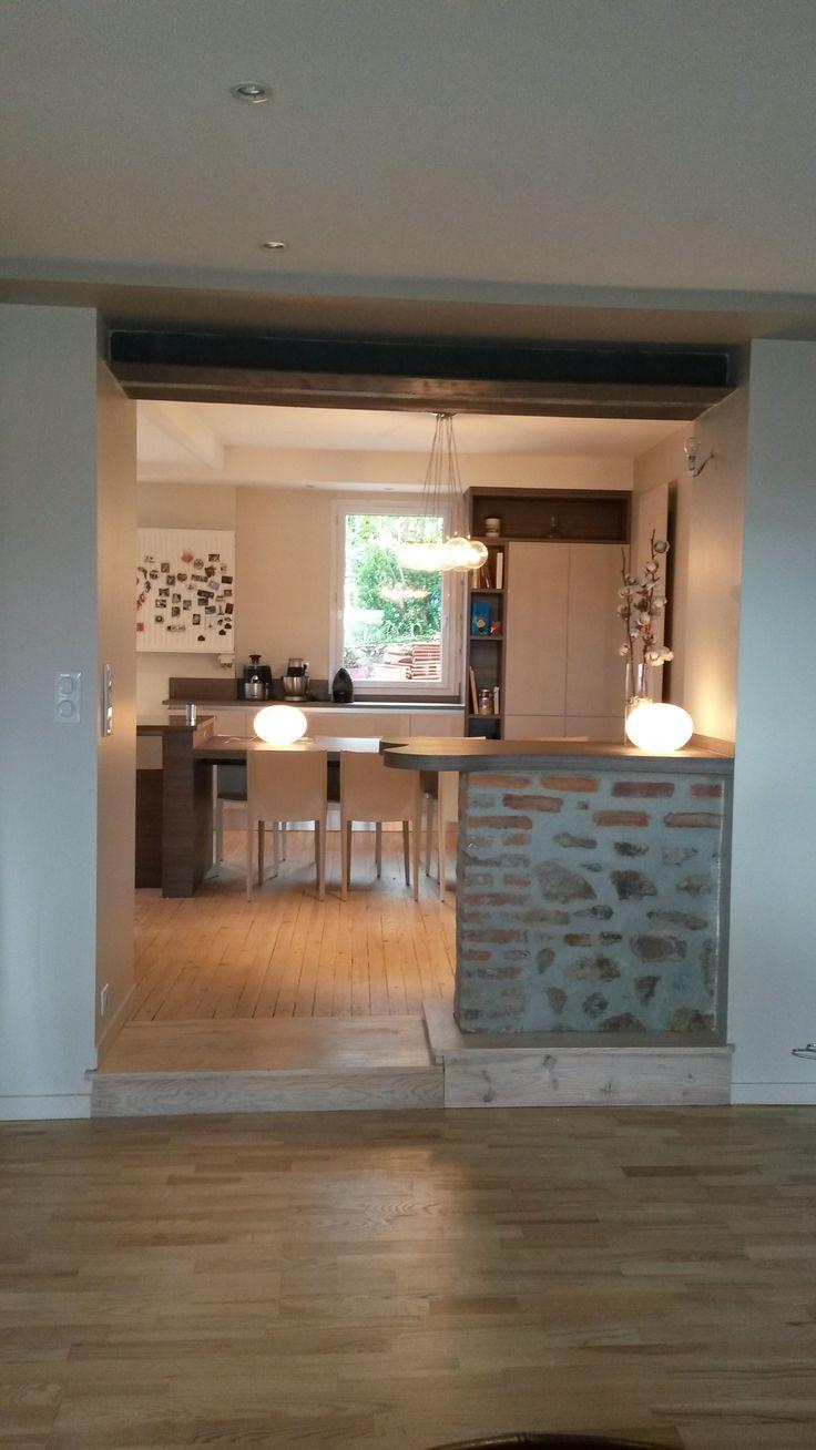 Duintrieur rnovation et duune cuisine ouverture du nouvel for Ouverture cuisine salon