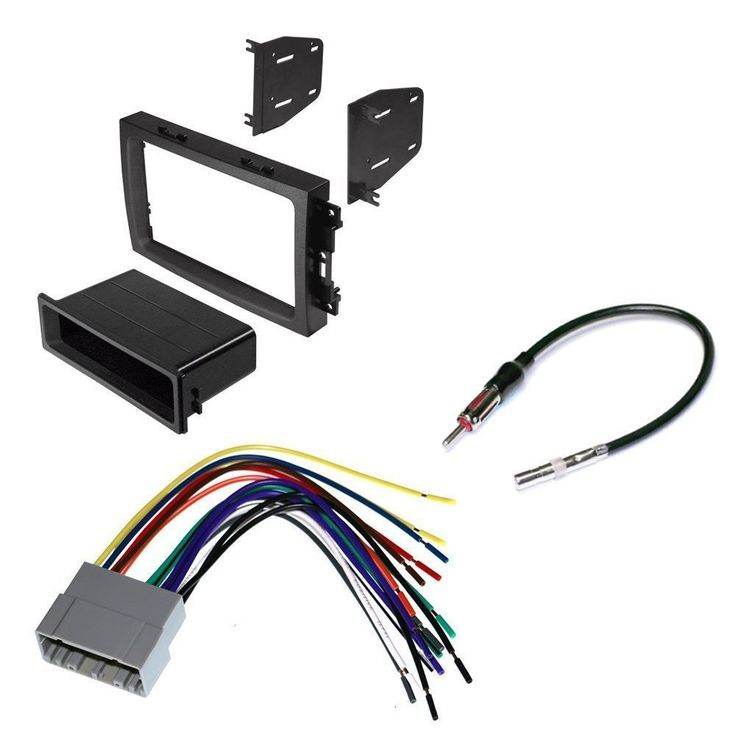 JEEP 2005 - 2007 GRAND CHEROKEE CAR CD STEREO RECEIVER DASH INSTALL MOUNTING KIT + WIRE HARNESS + RADIO ANTENNA ADAPTER