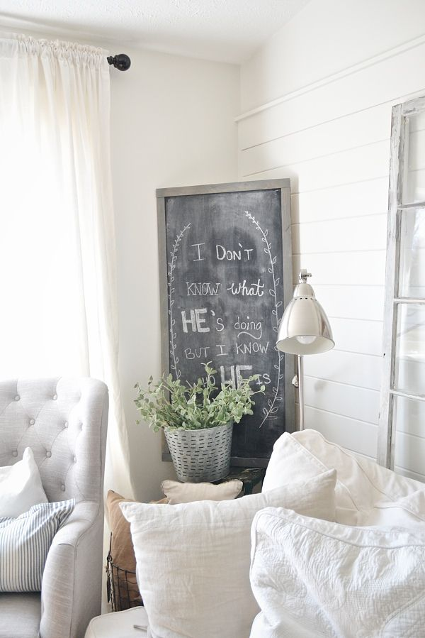 DIY Large Chalkboard   Love The Home You Have. 145 best Love the Home You Have images on Pinterest   Decorating