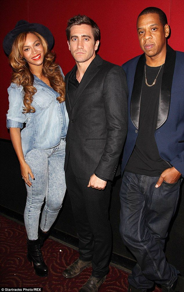 Showbiz superstars: Beyonce and Jay Z showed their support for Jake Gyllenhaal at the Nigh...