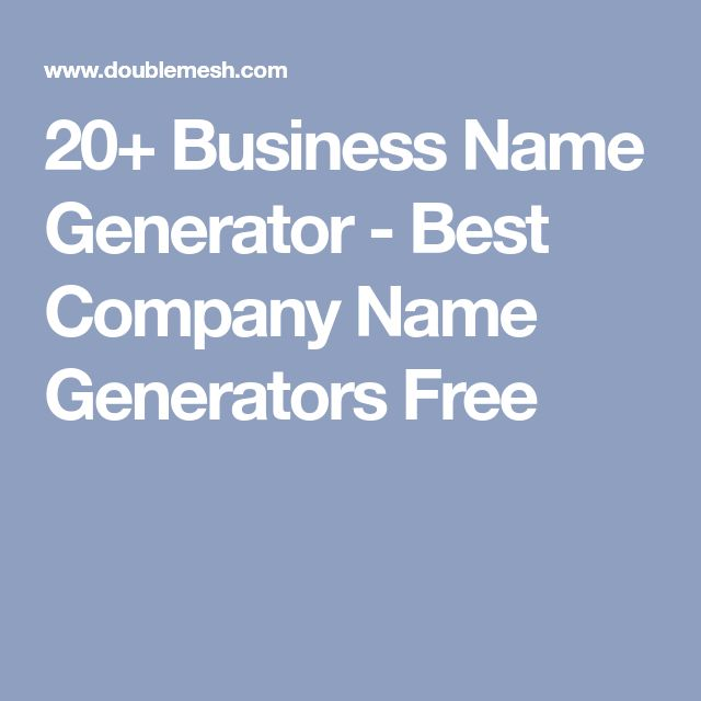 20+ Business Name Generator - Best Company Name Generators Free