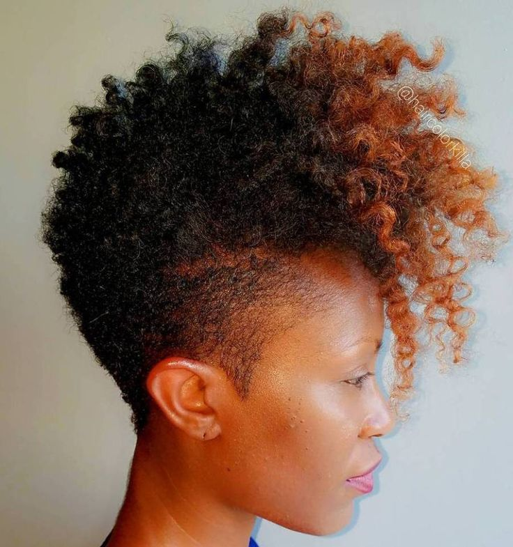Women's Tapered Mohawk For Natural Hair