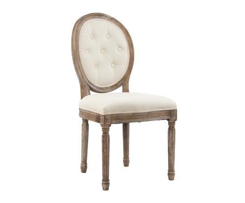#Sedia in lino e legno di pino crema/naturale colore Crema naturale  ad Euro 249.00 in #Detall item #Furniture chairs stoolspoufs