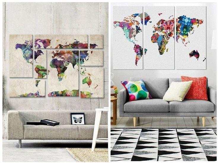 акварельная карта мира - Поиск в Google
