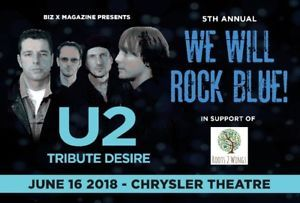 WE WILL ROCK BLUE - Starring U2 Tribute Desire