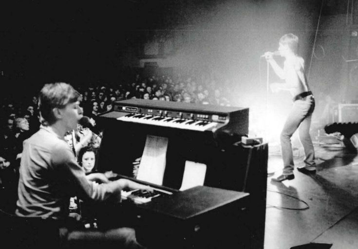 David Bowie on keyboards and backing vocals for Iggy Pop's Idiot World Tour, 1977