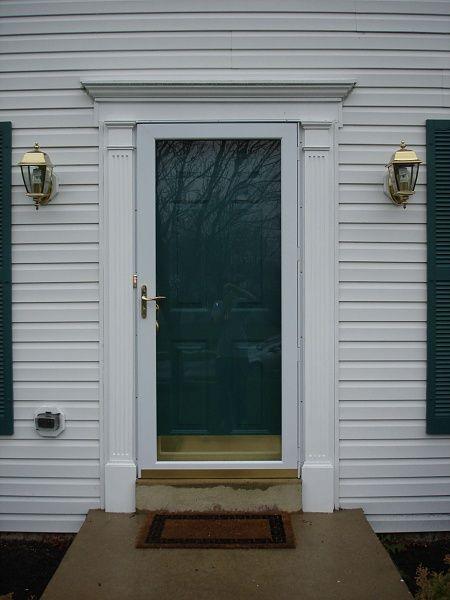 13 best door trim images on pinterest windows entrance doors and front door trims for Painting plastic trim on exterior door