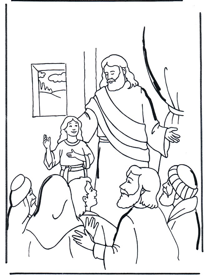 17 Best Images About Bible Fun For Kids On Pinterest Jairus Coloring Page