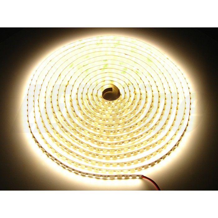 Helles LED Strip, LED Band 5m (500cm) 48 Watt = 4000 Lumen - 600 SMD LEDs, kürzbar & dimmbar, 120°